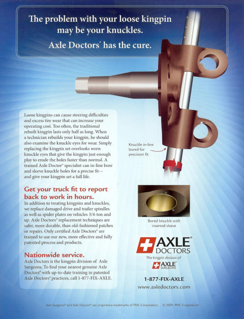 The problem with your loose kingpin may be your knuckles. Axle Doctors has the cure